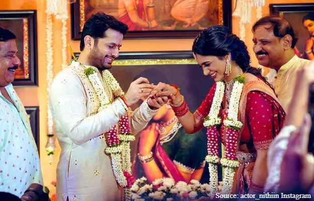 Actor Nithiin And Shalini Are Married; Congratulations by Rana Daggubati And Others