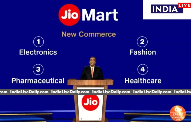RIL chairman Mukesh Ambani talks of Jio Mart expansion at the virtual AGM.